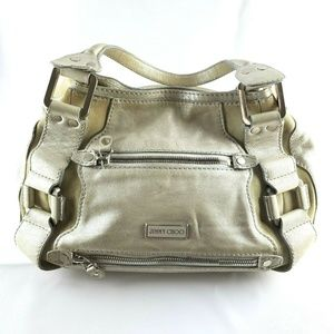 Jimmy Choo Mahala  Purse Metallic Leather